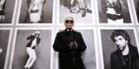 "Chanel's creative director Karl Lagerfeld poses on November 8, 2012 before the opening of his photo exhibition entitled ""Little Black Jacket"" at the Grand Palais in Paris. The project, which was the brainchild of Lagerfeld and ex-Vogue Paris editor Carine Roitfeld, began with a coffee table book consisting of photographs of 'friends of the House' - models, stylists, actors, designer and musicians - all wearing Chanel's classic little black jacket in different ways. The event runs until november 25.  AFP PHOTO PATRICK KOVARIK (Photo by PATRICK KOVARIK / AFP)        (Photo credit should read PATRICK KOVARIK/AFP/Getty Images)"